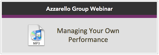 Managing Your Own Performance