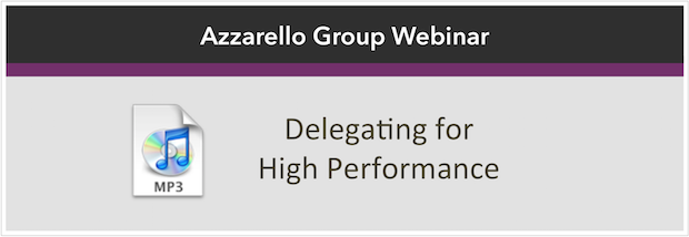 Delegating for High Perf